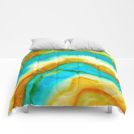 AGATE Inspired Watercolor Abstract 10 Comforters