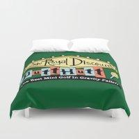 gravity falls Duvet Covers featuring Gravity Falls Mini Golf by pondlifeforme
