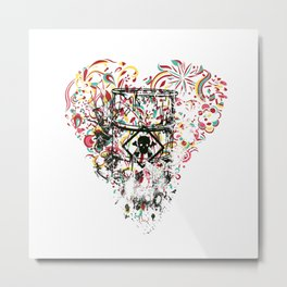 Toxic Love with Skull on the Barrel Metal Print