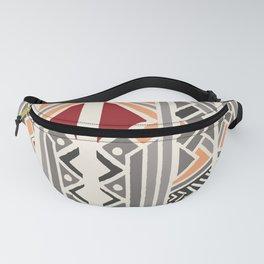 Tribal ethnic geometric pattern 034 Fanny Pack
