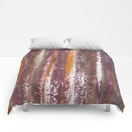 Abstract striped painted Comforters