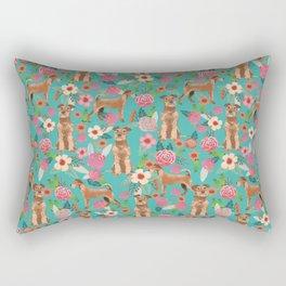 Irish Terrier florals dog breed pet pattern dog art pet friendly terriers portrait Rectangular Pillow