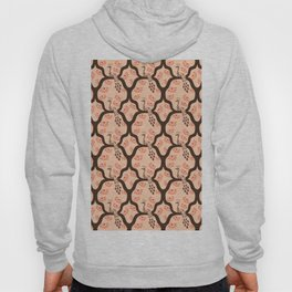 Peacocks and Flowers on Pastel Background Hoody