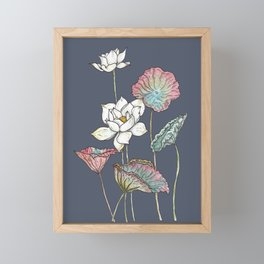 Lotus Symphony Framed Mini Art Print