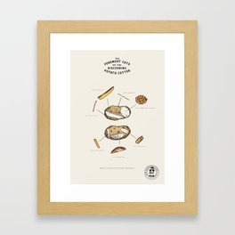 The Foremost Cuts of the Discerning Potato Cutter Framed Art Print