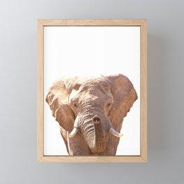 Elephant illustration Framed Mini Art Print