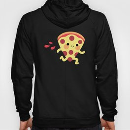 Cute running pizza slice Hoody
