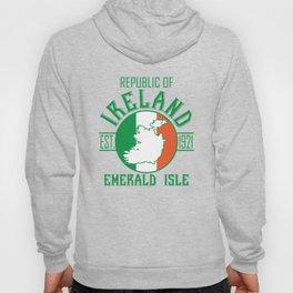 Republic of Ireland - est 1921 St.Patrick's Day Emerald Isle Flag Map Shirt Hoody