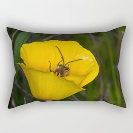 Orchard bee and flower Rectangular Pillow