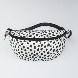Dalmatian Spots (black/white) Fanny Pack