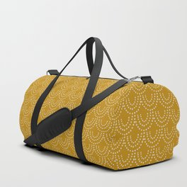 Dotted Scallop in Gold Duffle Bag