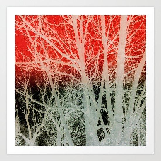 Negatrees Art Print