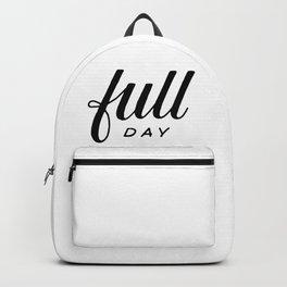 Full day Backpack