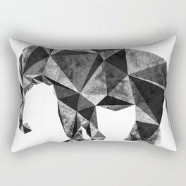 geometric elephant gray Rectangular Pillow