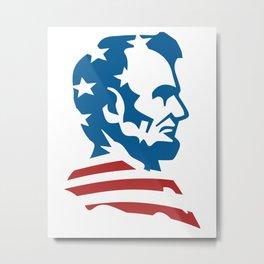 American Abe Metal Print