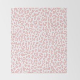 Pale Coral Leopard Throw Blanket