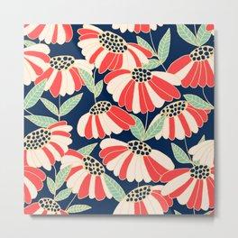 Botany pattern Metal Print