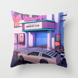 80s Cinema Throw Pillow