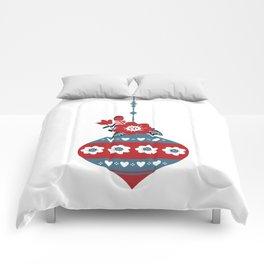 Scandinavian Christmas Ball 02 Comforters