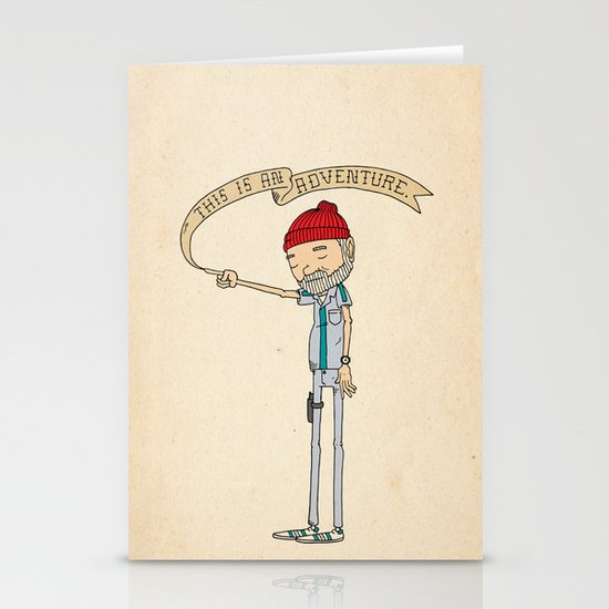 """""""THIS IS AN ADVENTURE."""" - Zissou Stationery Cards"""