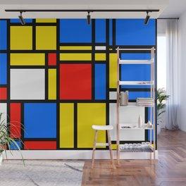 Mondrian Style Wall Mural