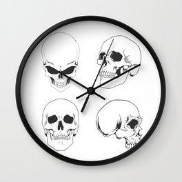Skulling around - skeleton Wall Clock