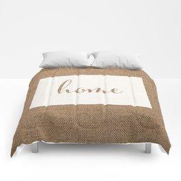 Colorado is Home - White on Burlap Comforters