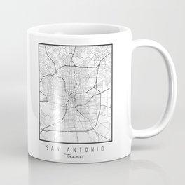 San Antonio Texas Street Map Coffee Mug
