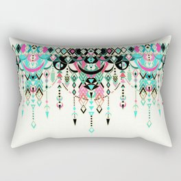 Modern Deco in Pink and Turquoise Rectangular Pillow