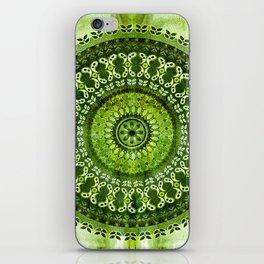 Vintage Lime Mandala iPhone Skin