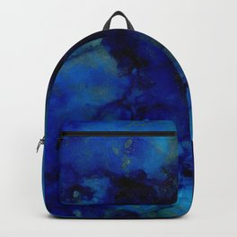 NEW Alcohol Ink Deep Blue Trip I Backpack