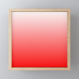 White to Pink Ombre Flames Framed Mini Art Print