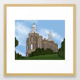 Logan Temple Framed Art Print