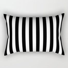 Vertical Stripes (Black/White) Rectangular Pillow