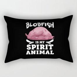 Blobfish Is My Spirit Animal Lovers Ugly Pet Gift Rectangular Pillow