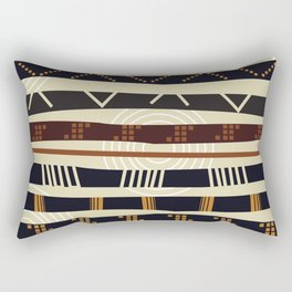 African Tribal Pattern No. 35 Rectangular Pillow