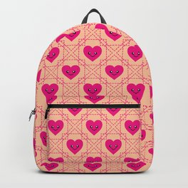 Pinky Smiley Hearts Pattern 036#001 Backpack