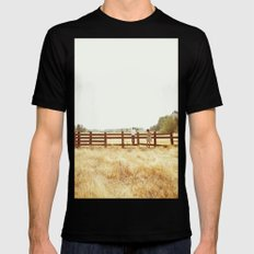 Fence Standing Black MEDIUM Mens Fitted Tee