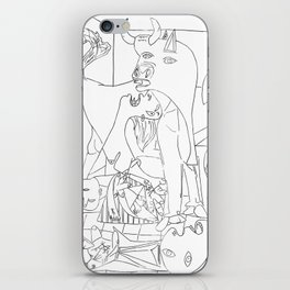 Picasso Line Art - Guernica iPhone Skin