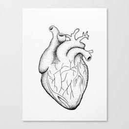 dotwork heart Canvas Print