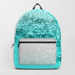 Silver Gray Aqua Teal Ocean Glitter #1 #shiny #decor #art #society6 Backpack