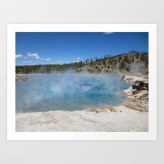 Left my heart in Yellowstone Art Print