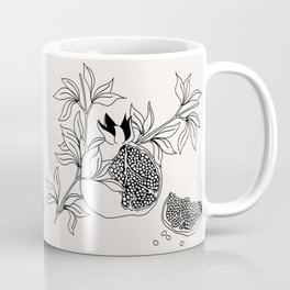Pomegranate (BW) Coffee Mug