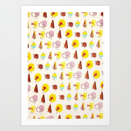 Cake parade Art Print