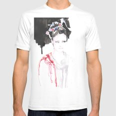 Watercolor illustrations MEDIUM White Mens Fitted Tee