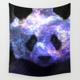 Galaxy Panda Space Colorful Wall Tapestry