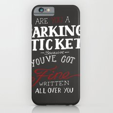 parking ticket red on  grey Slim Case iPhone 6s