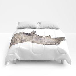 Watercolor Rhino Comforters
