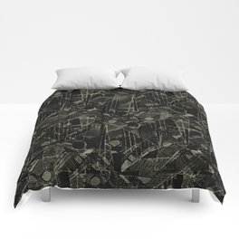 Abstract Collage Patchwork Pattern Comforters