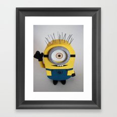 Wooden Toy Minion Framed Art Print